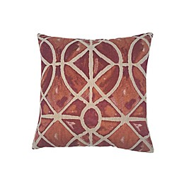 MM Studio Abstract Square Throw Pillow in Terracotta