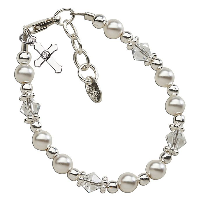 ad3fd39bb883b Cherished Moments Sterling Silver Christening Bracelet with ...