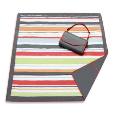 Jj Cole 174 All Purpose Outdoor Blanket In Grey Red Stripe