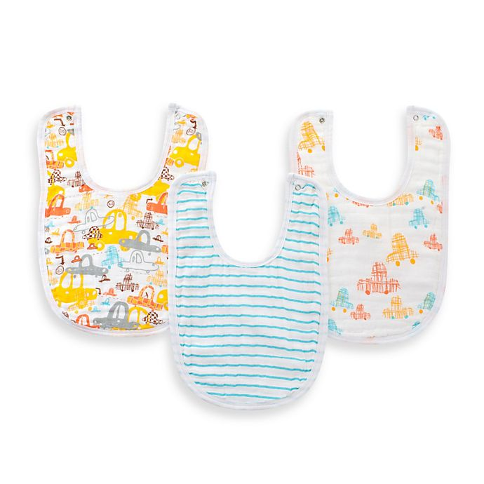 Alternate image 1 for aden® by aden + anais® 3-Pack Bib Set in Sunday Drive