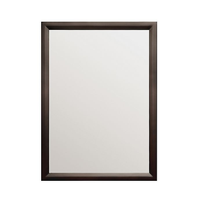 Alternate image 1 for Simpli Home Urban Loft Bath Decor Mirror in Tobacco