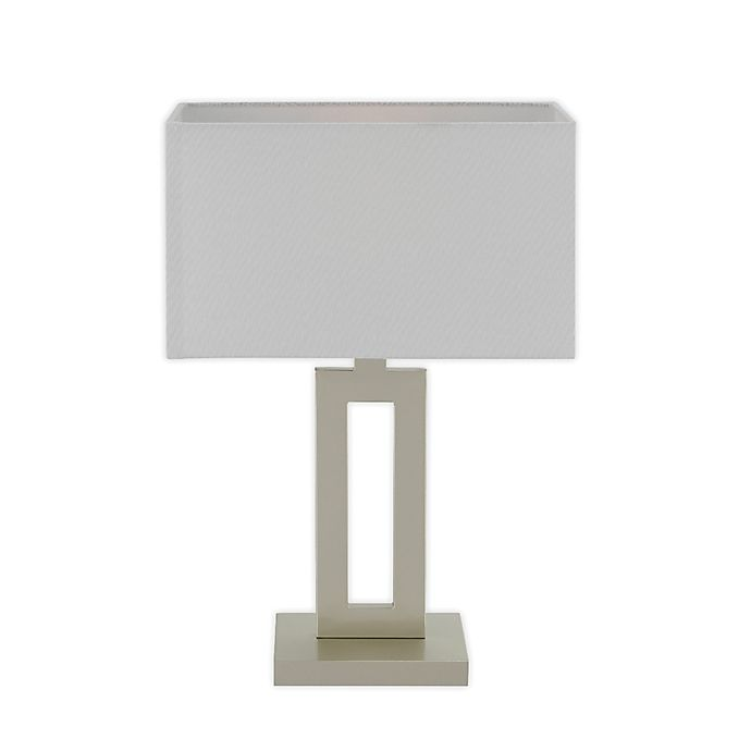 Alternate image 1 for Globe Electric D'Alessio Table Lamp in Soft Gold with White Linen Shade