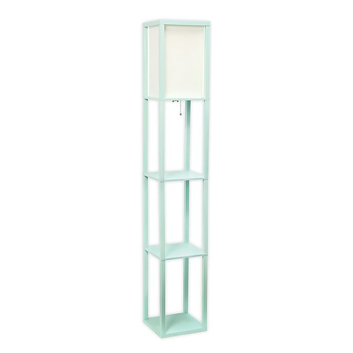 Alternate image 1 for Etagere Floor Lamp with Linen Shade