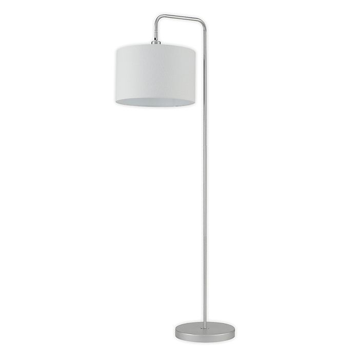 Alternate image 1 for Globe Electric Barden Floor Lamp in Dark Bronze with Beige Fabric Shade