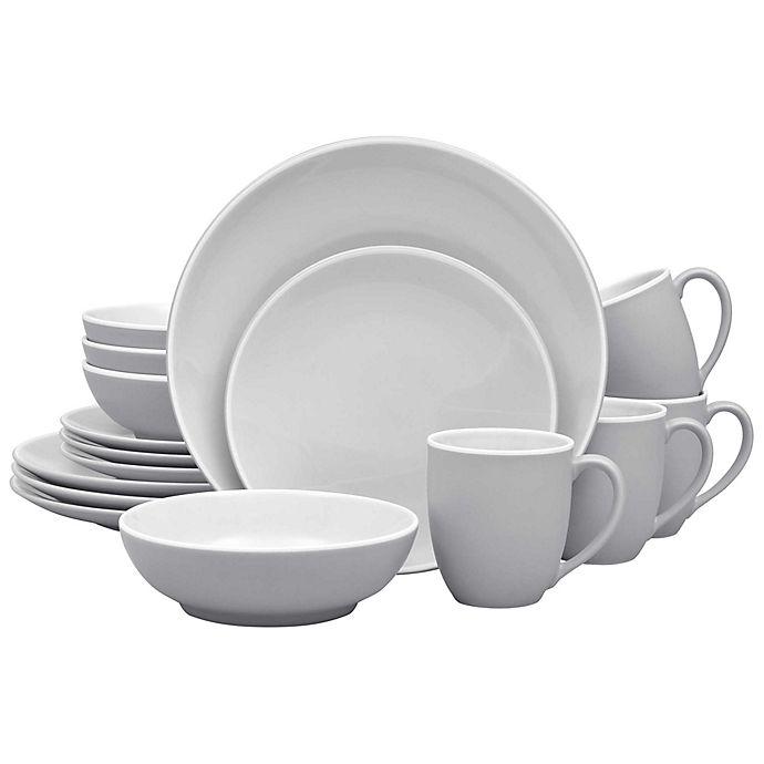 Alternate image 1 for Noritake® ColorTrio Coupe 16-Piece Dinnerware Set in Slate