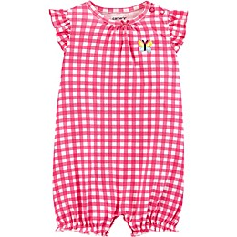 carter's® Front Gingham Romper in Pink