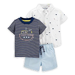 carter's® 3-Piece Submarine Layette Set in Navy