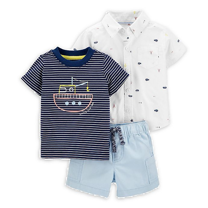 Alternate image 1 for carter's® 3-Piece Submarine Layette Set in Navy