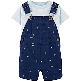 carter's® 2-Piece Nautical Shirt and Shortall Set in Navy