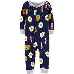 carter's® Breakfast Footless Toddler Pajama in Navy