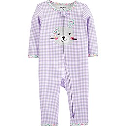 carter's® Bunny 2-Way Zip Sleep and Play Pajama in Purple