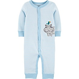 carter's® Hippo Snap-Up Sleep & Play Pajama in Blue