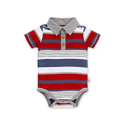 Burt's Bees Baby® Striped Organic Cotton Polo in Red/Blue
