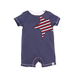 Burt's Bees Baby® Striped Star Romper in Blue