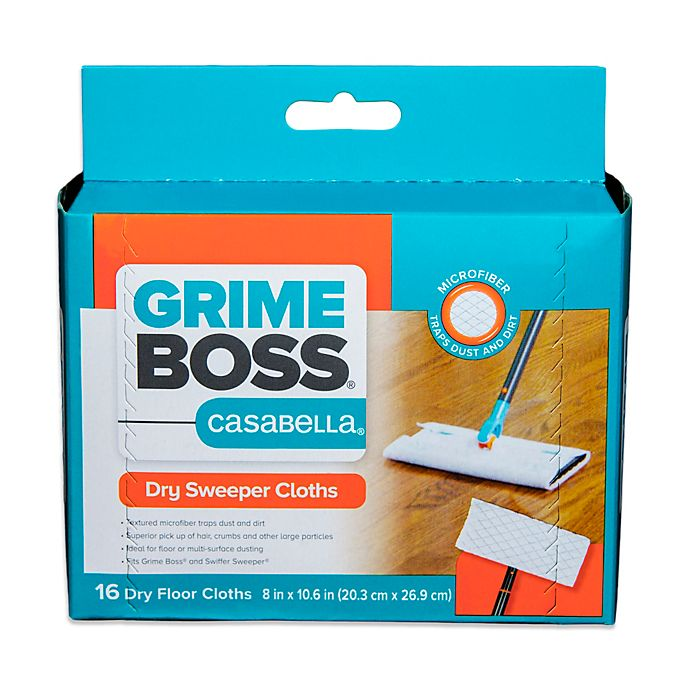 Grime Boss 174 16 Count Premium Dry Sweeper Cloths Bed Bath