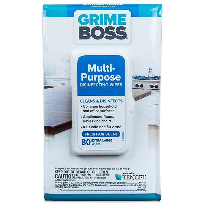 Alternate image 1 for Grime Boss® 80-Count Multi-Purpose Disinfecting Wipes
