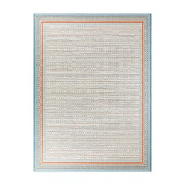 Destination Summer Miami Border Indoor/Outdoor Rug in Peach