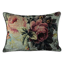 MM Linen Vintage and Cameo Velvet Rosa Oblong Throw Pillow in Pink