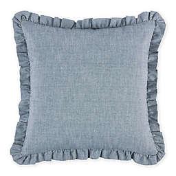 HiEnd Accents Chambray European Pillow Sham in Blue