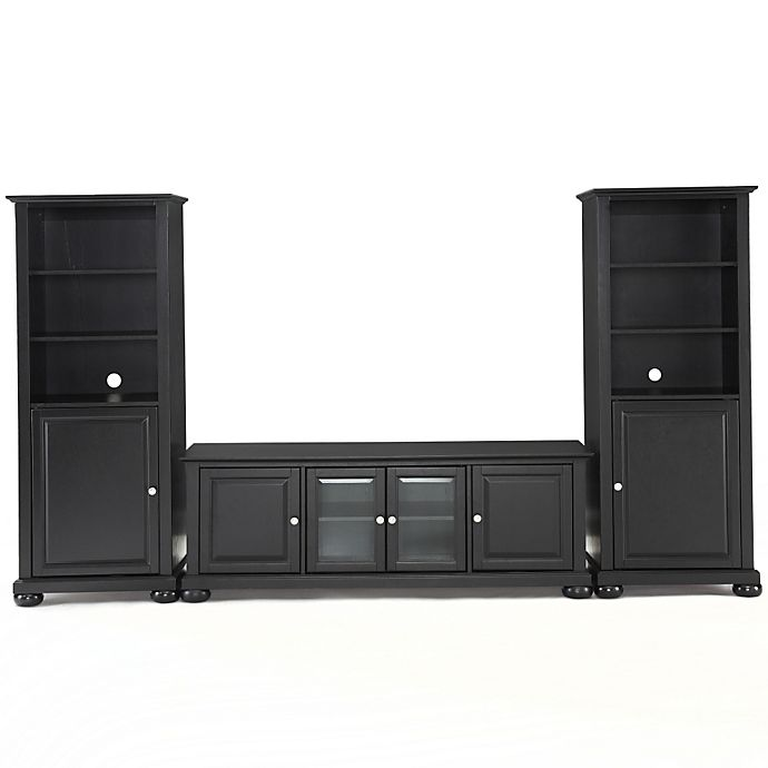 Crosley Alexandria 60 Inch Low Profile Tv Stand With Two 60 Inch