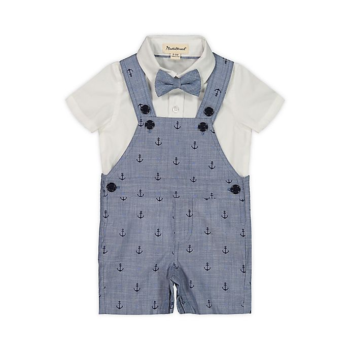 Alternate image 1 for Beetle & Thread® 3-Piece Shirt, Overall and Bow Tie Set
