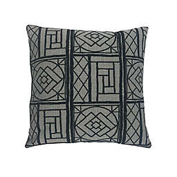 MM Studio Abstract Square Throw Pillow in Black