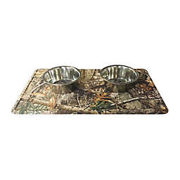 Liberty Mats Woodsy Indoor/Outdoor Pet Food Mat in Brown