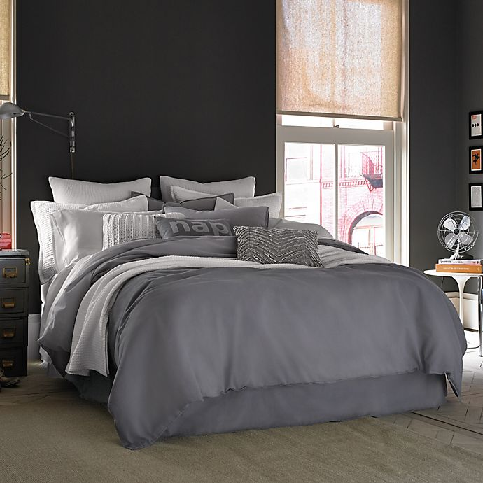 Kenneth Cole Reaction Home Mineral Pillow Sham In Gunmetal