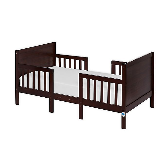 Alternate image 1 for Dream On Me Hudson 3-in-1 Convertible Toddler Bed in Espresso