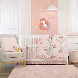 Disney® Ariel 6-Piece Crib Bedding Set in Pink
