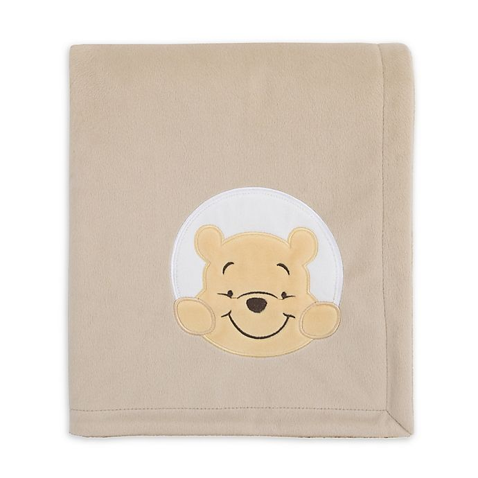 Alternate image 1 for Disney® Winnie The Pooh Hunny & Me Stroller Blanket in Grey