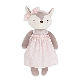 NoJo Countryside Floral Plush Deer in Grey