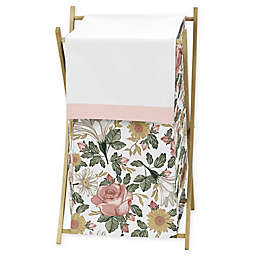 Sweet Jojo Designs Vintage Floral Laundry Hamper in Pink/Green