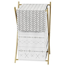 Sweet Jojo Designs Woodland Friends Laundry Hamper in Grey/White