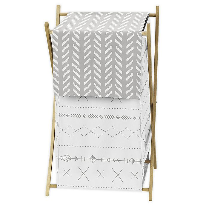 Alternate image 1 for Sweet Jojo Designs Woodland Friends Laundry Hamper in Grey/White