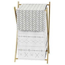 Sweet Jojo Designs Woodland Friends Laundry Hamper in Grey/White