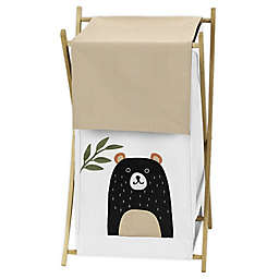 Sweet Jojo Designs Woodland Friends Laundry Hamper in Beige/Black