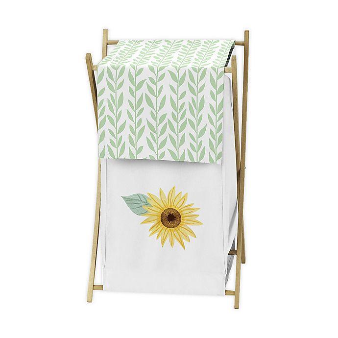 Alternate image 1 for Sweet Jojo Designs Sunflower Laundry Hamper in Yellow/Green