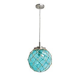 Elegant Designs Brushed Nickel Glass Pendant Light