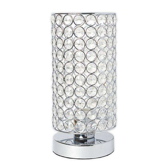 Alternate image 1 for Elegant Designs Elipse Crystal Cylindrical Table Lamp in Chrome