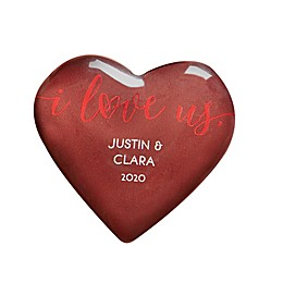 I Love Us Personalized Mini Heart Keepsake