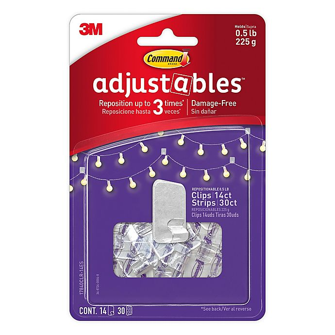 Alternate image 1 for 3M Command® 14-Pack Adjustable Picture Clips