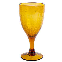 Bee & Willow™ Home Milbrook Bubble Goblet in Amber
