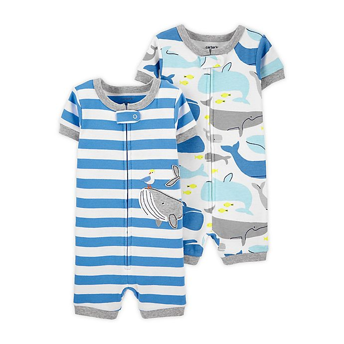 Alternate image 1 for carter's® 2-Pack Toddler Romper Pajamas
