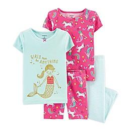 carter's® 4-Piece Mermaid Pajama Set in Mint