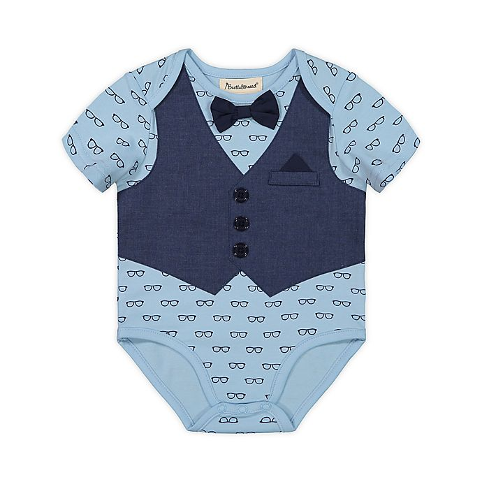 Alternate image 1 for Beetle & Thread® Bow Tie and Vest Bodysuit