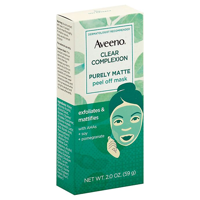Alternate image 1 for Aveeno® Clear Complexion 2 oz. Purely Matte Peel Off Mask