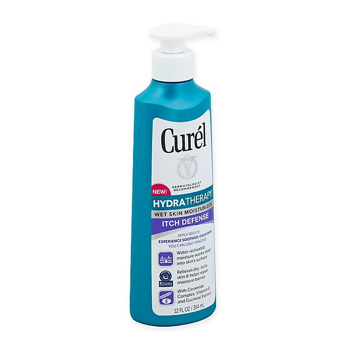 Alternate image 1 for Curel® 12 fl. oz. Hydra Therapy Itch Defense Wet Skin Moisturizer