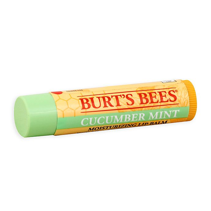 Alternate image 1 for Burt's Bees® .15 oz. 100% Natural Moisturizing Lip Balm in Cucumber Mint