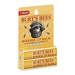 Burt's Bees® 2-Pack 0.15 oz. Beeswax Lip Balm with Vitamin E and Peppermint